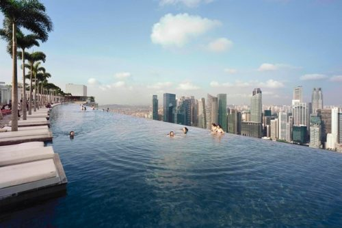 Kolam Renang Marina Bay Sands Singapore