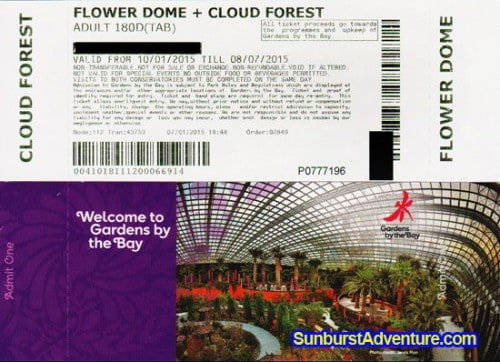 Garden By The Bay Admission jembatan tali baja ocbc skyway di garden bay singapore