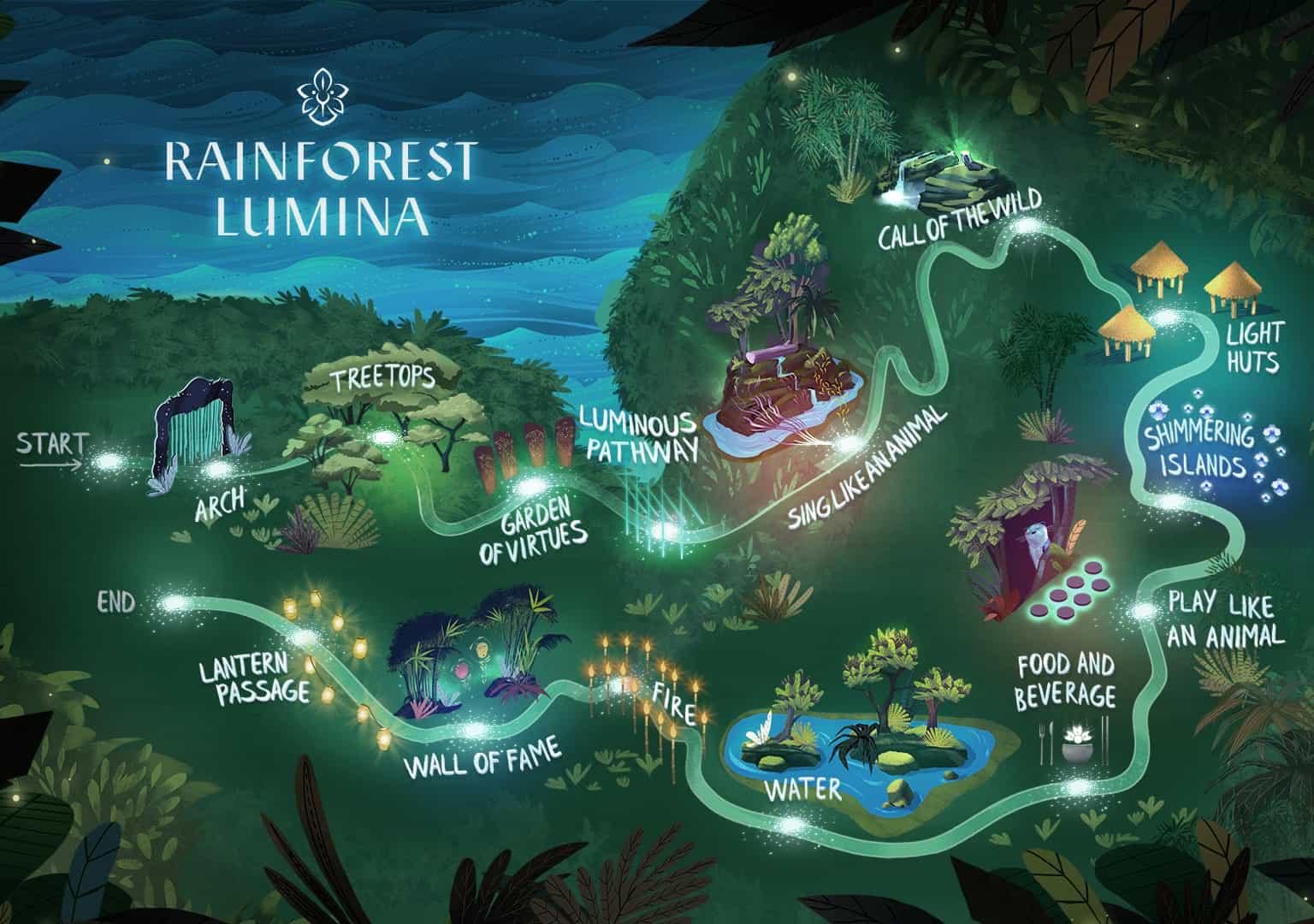Lumina Rain Forest Wisata Baru Di Singapore 2018 Tiket Masuk Garden By The Bay Anak